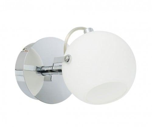 Nástěnná lampa Ida chrom / bílá LED 3W