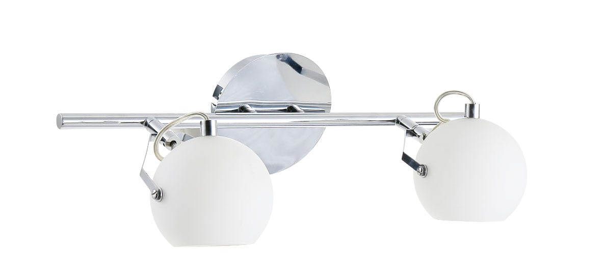 Dvojitá bílá Ida nástěnná lampa chrom / bílá LED 3W