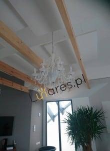 Exkluzivní dvanáctibodový lustr Rosano bílý E14 40W small 1