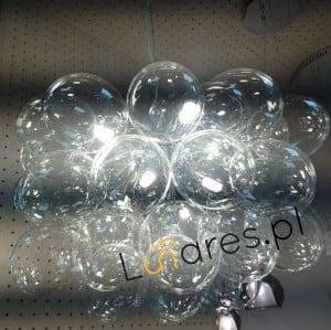 Nowoczesna Lampa wisząca Hroznový chrom / stříbro / transparentní G9 28W small 1