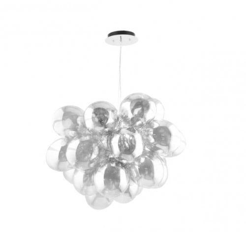 Nowoczesna Lampa wisząca Grape chrom/ srebrny/ transparentny G9 28W
