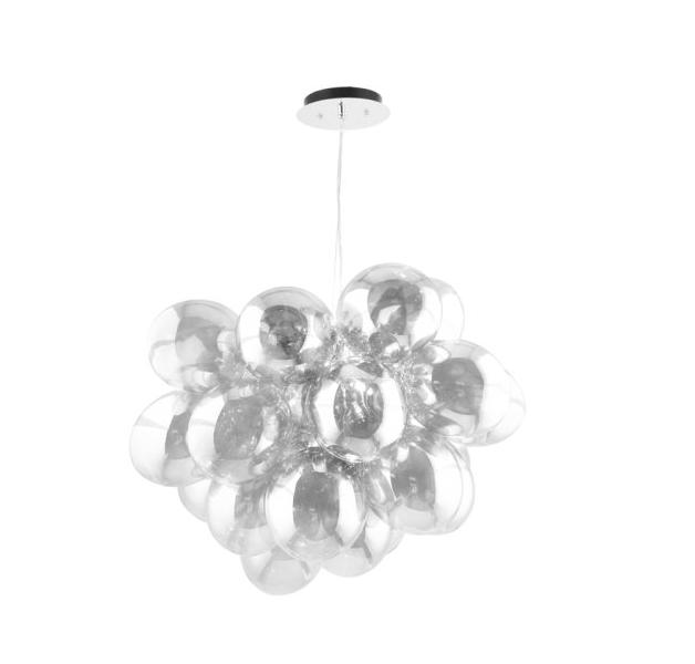 Nowoczesna Lampa wisząca Hroznový chrom / stříbro / transparentní G9 28W