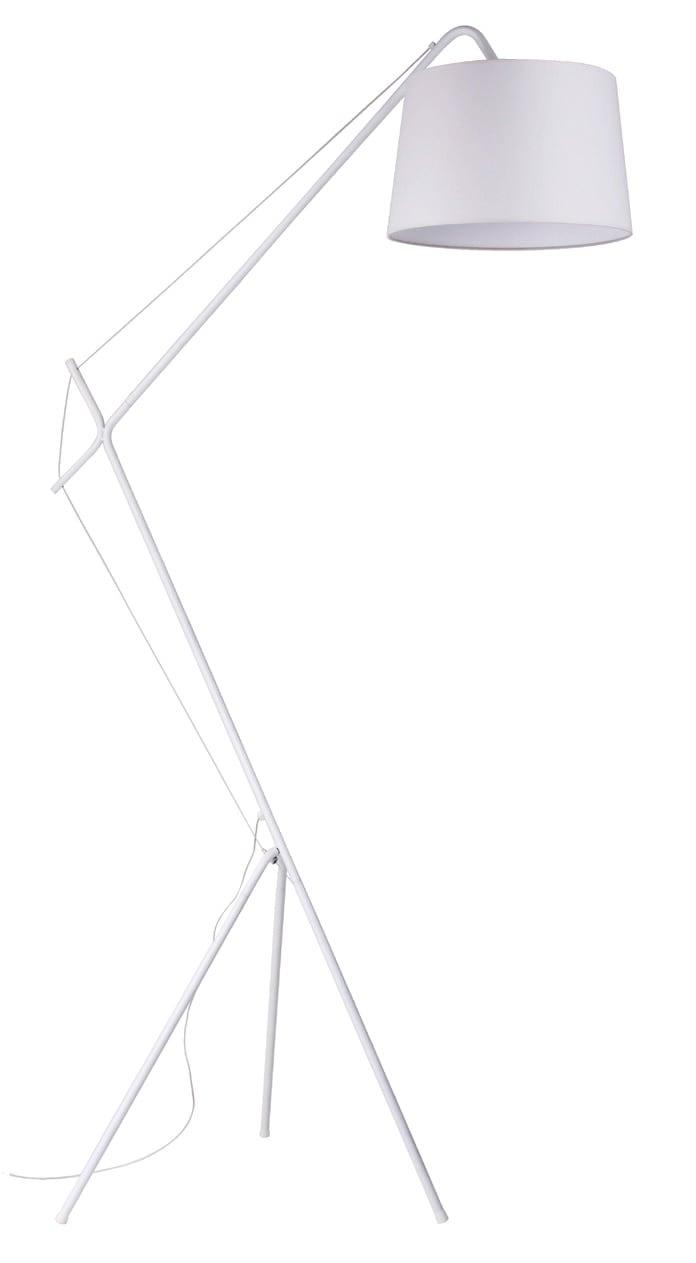 Bílá Stojací lampa Alvin E27 60W