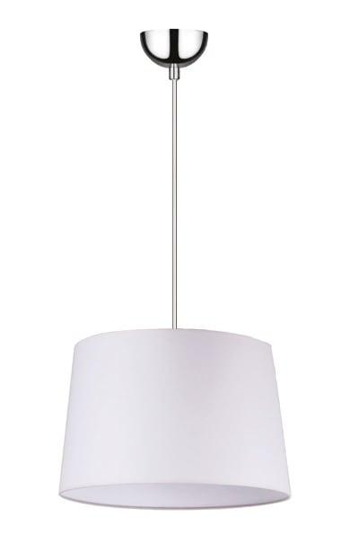 Bílá závěsná svítilna Alvin / chrom E27 60W