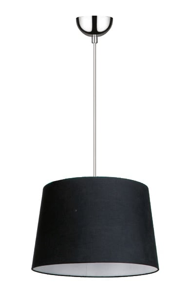 Černé závěsné svítidlo Alvin / chrom E27 60W