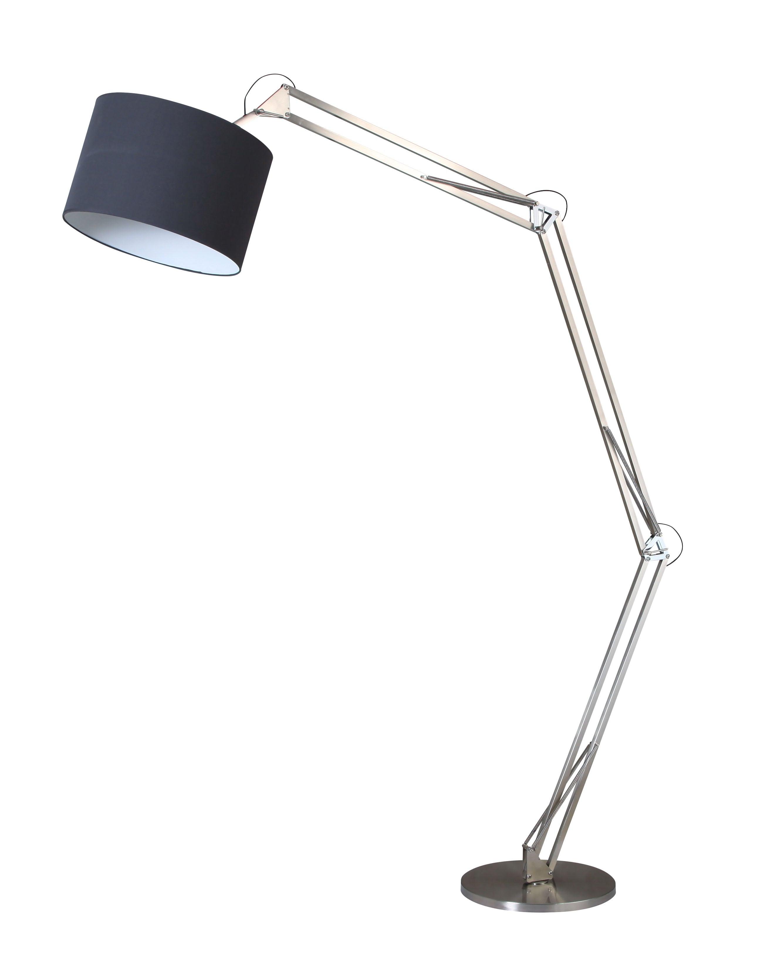 Stojací lampa Chrome Mirani chrom / černá E27 60W