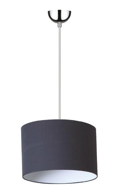 Moderní závěsná lampa Mirani chrom / černá E27 60W