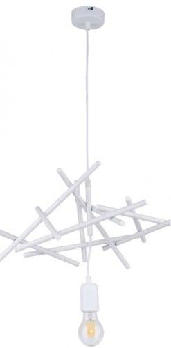 Industrialna biała lampa wisząca Glenn E27 60W