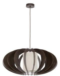 Exkluzivní závěsná lampa Keiko wenge / krém E27 60W small 0