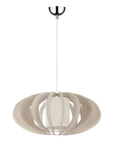 Exkluzivní závěsná lampa Keiko brzoza bielona / krém E27 60W