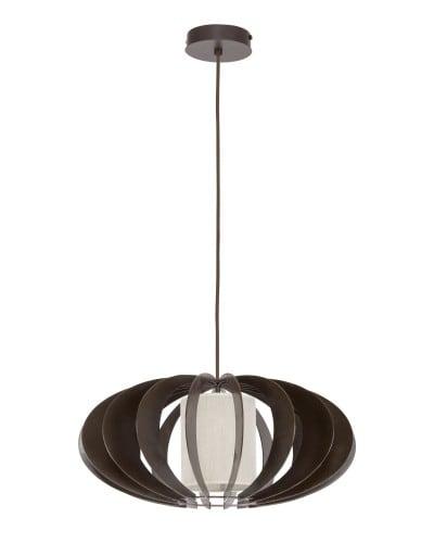 Přívěsek lampa Keiko wenge / krém E27 60W