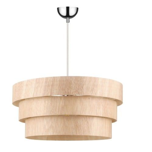 Wiejska Lampa wisząca Kazuki Wood dąb E27 60W