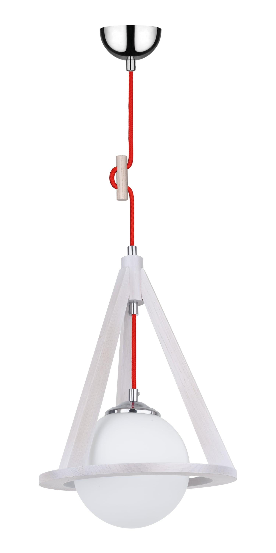 Lampa Dąb bielony / chrom / závěsné závěsné E27 60W