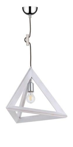 Lampa wisząca Bodové svítidlo Trigonon dąb bielony / chrom / antracit E27 60W