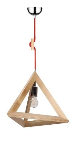 Závěsná svítilna Trigonon brzoza / chrom / červená E27 60W