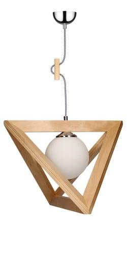 Lampa wisząca Trigonon brzoza/chrom/czarno-biały E27 60W