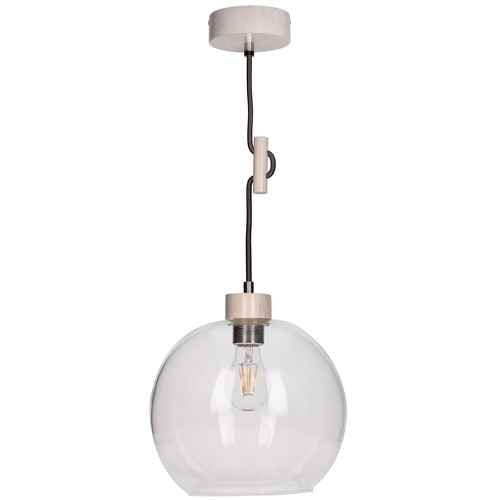 Závěsná svítilna Svea dąb bielony / antracit E27 60W