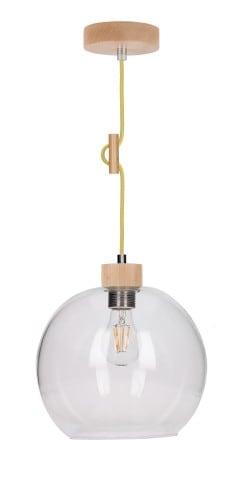 Lampa wisząca Przeźroczysta Svea buk/oliwkowy E27 60W