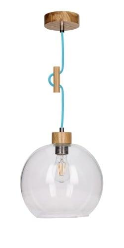 Závěsná svítilna transparentní Svea dub / benzín E27 60W