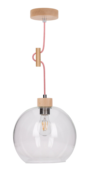 Průmyslová transparentní závěsná lampa SVEA