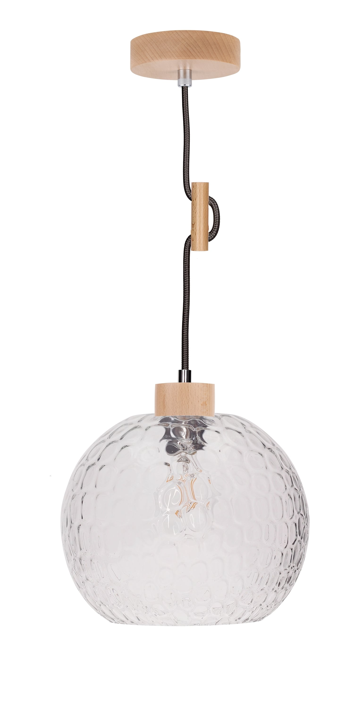 Závěsná svítilna Disissative Svea buk / antracit E27 60W