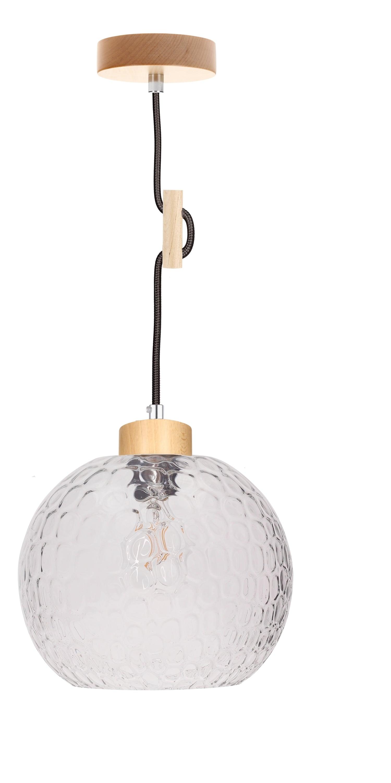 Závěsná svítilna Svea brzoza / antracit E27 60W