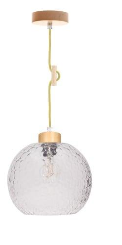 Závěsná svítilna Svea birch / olive E27 60W