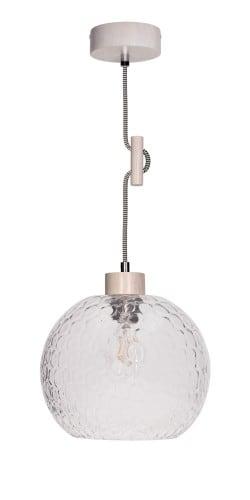 Lampa wisząca Svea Rozpraszająca dąb bielony/czarno-biały E27 60W