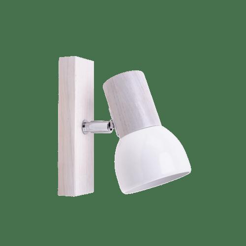 Nástěnné svítidlo Svenda bílý dub / chrom / bílá E27 60W