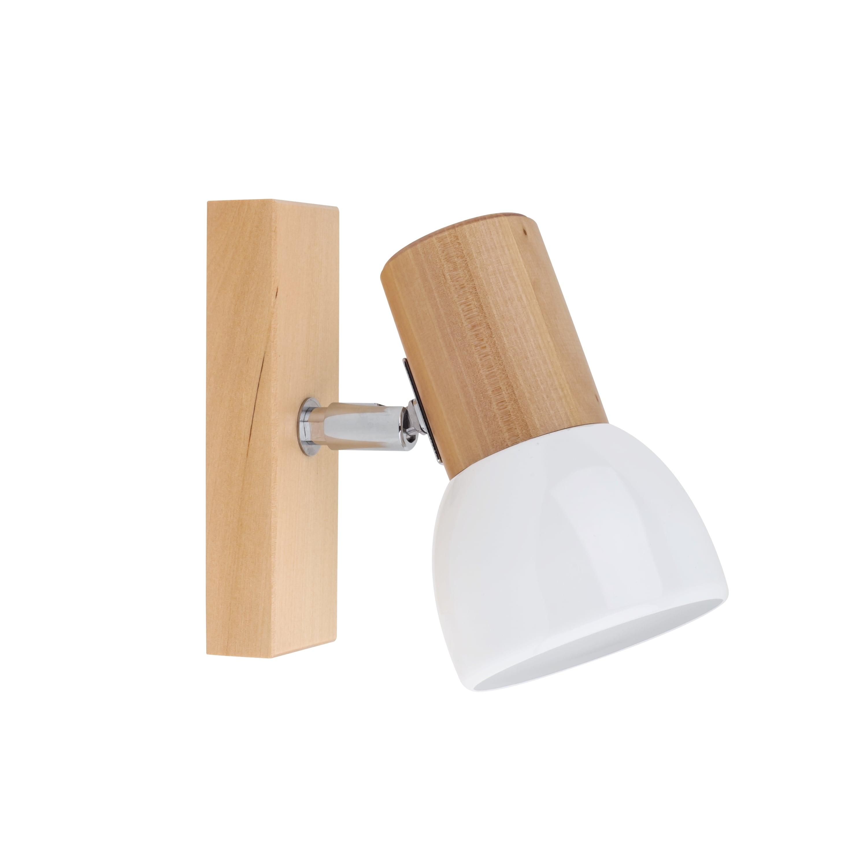 Nástěnná lampa Svenda brzoza / chrom / bílá E27 60W