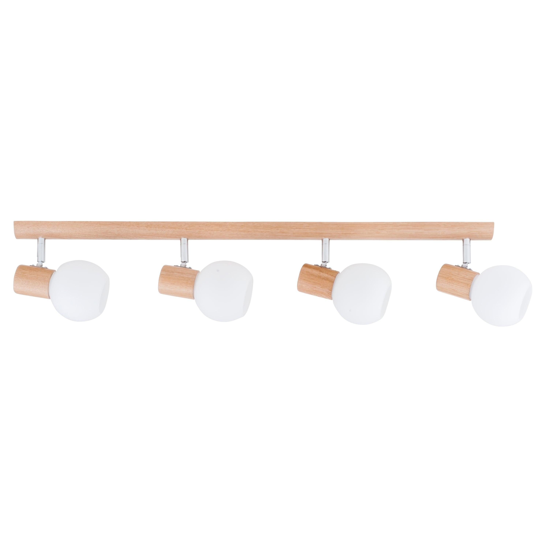 Čtyřpásový pásek Bodový karin dub / chrom / bílý E14 40W