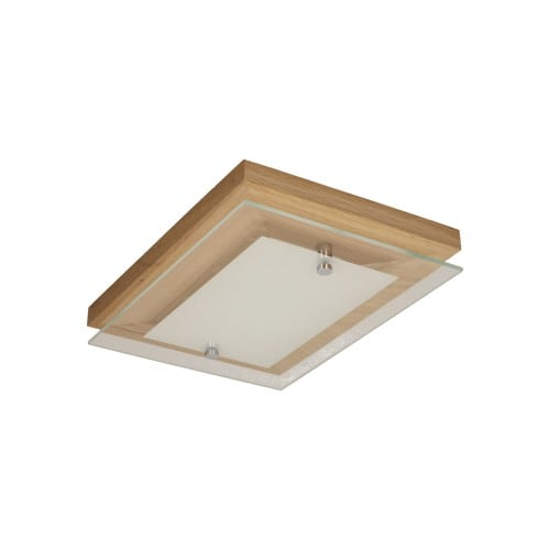 Strop Finn dubový olej / chrom / bílá LED 10W