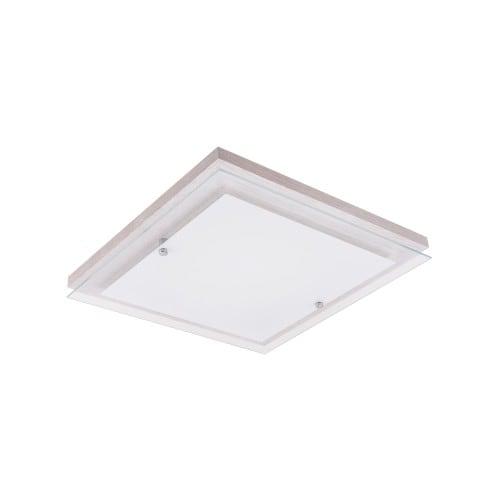 Strop Finn dąb bielony / chrom / bílá LED 14W