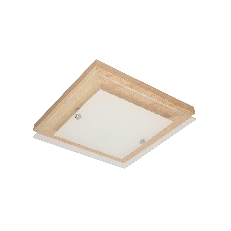 Plafon Finn brzoza / chrom / bílá LED 14W