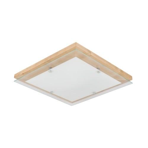 Plafon Finn brzoza / chrom / bílá LED 24W