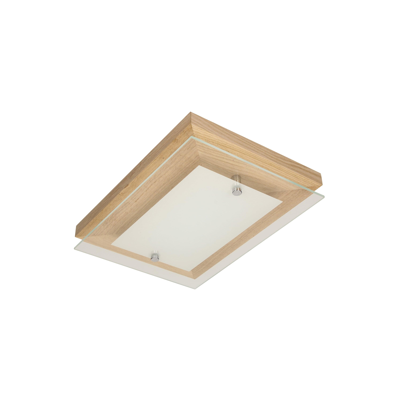 Strop Finn dub / chrom / bílá LED 2.1-10W