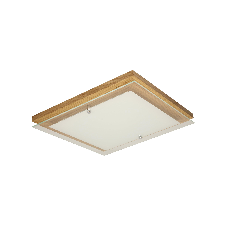 Strop Finn dubový olej / chrom / bílá LED 2.4-14W