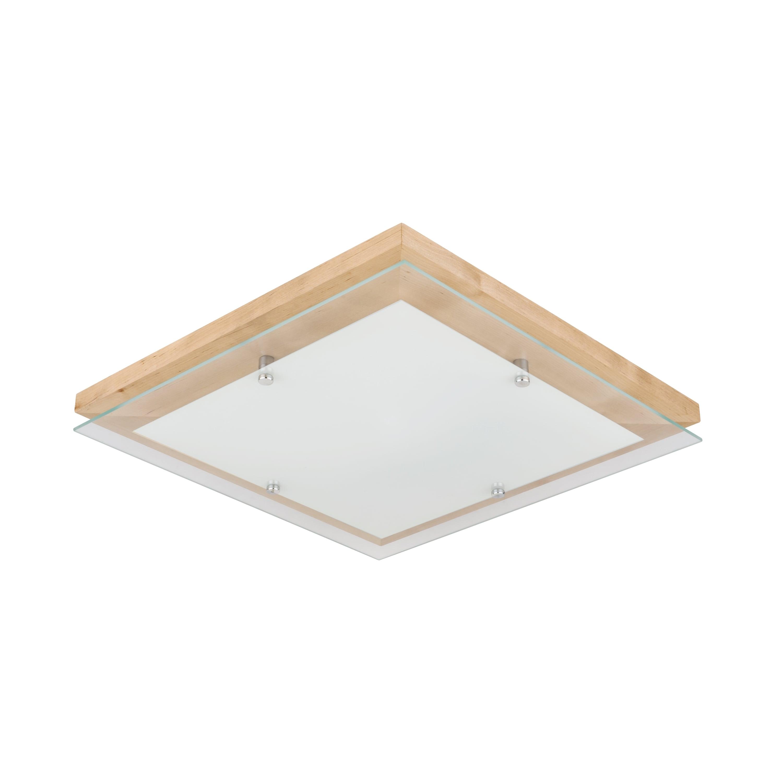 Plafon Finn brzoza / chrom / bílá LED 2.7-24W