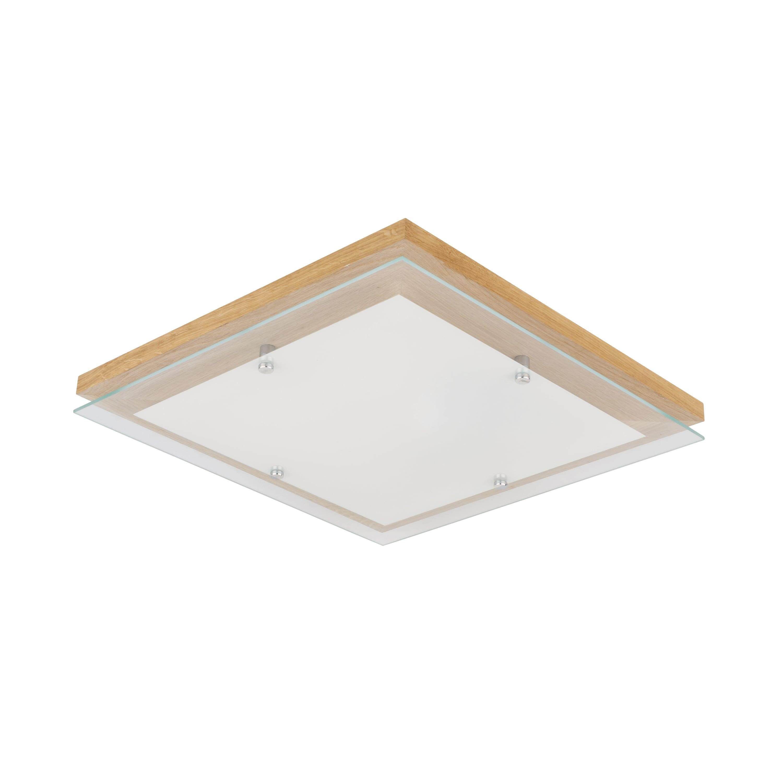 Strop Finský dub / chrom / bílá LED 2.7-24W