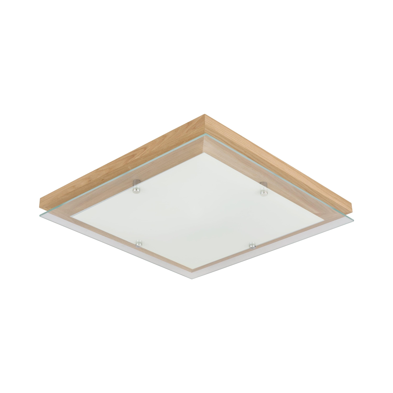 Strop Finn dubový olej / chrom / bílá LED 2.7-24W