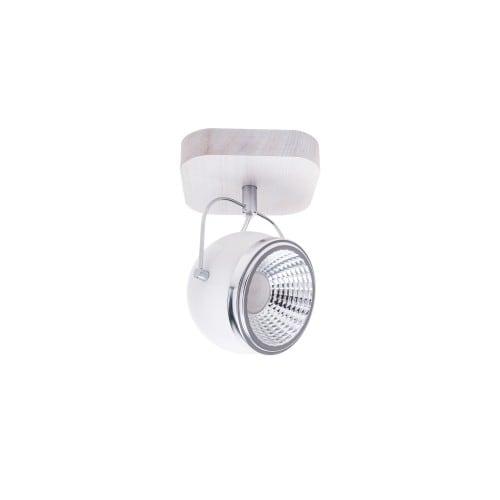 Nástěnné svítidlo Ball Dřevěný dub bělený / chrom / bílá LED GU10 5,5W