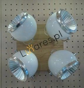 Plafon Ball Dřevěný dub naolejovaný / chrom / bílá LED GU10 5,5W small 1