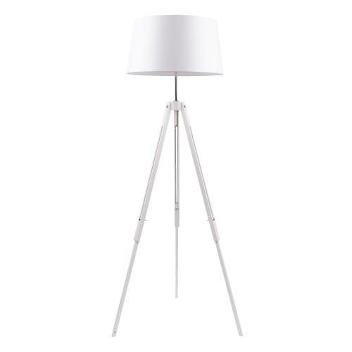 Biała Lampa podłogowa Trójnóg