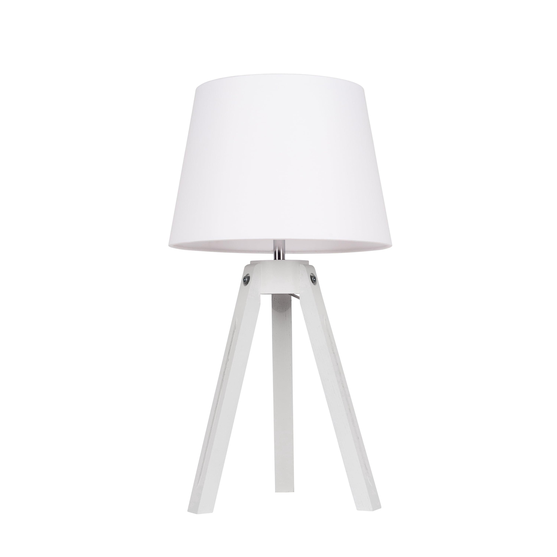 Stolní lampa Stativ bílý / chrom / bílý E27 60W