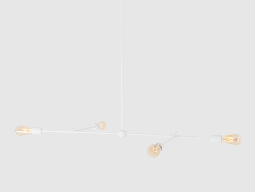 Závěsná lampa TRISO 4 - bílá