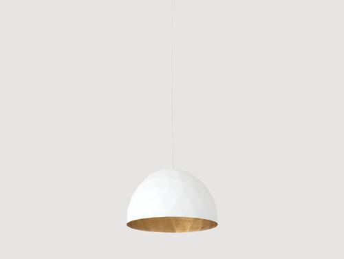 Závěsná lampa LEONARD M - zlatá a bílá