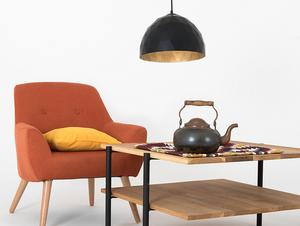 Závěsná lampa LEONARD M - zlato-černá small 1
