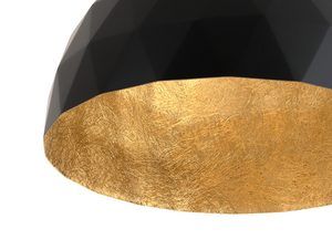Závěsná lampa LEONARD M - zlato-černá small 4
