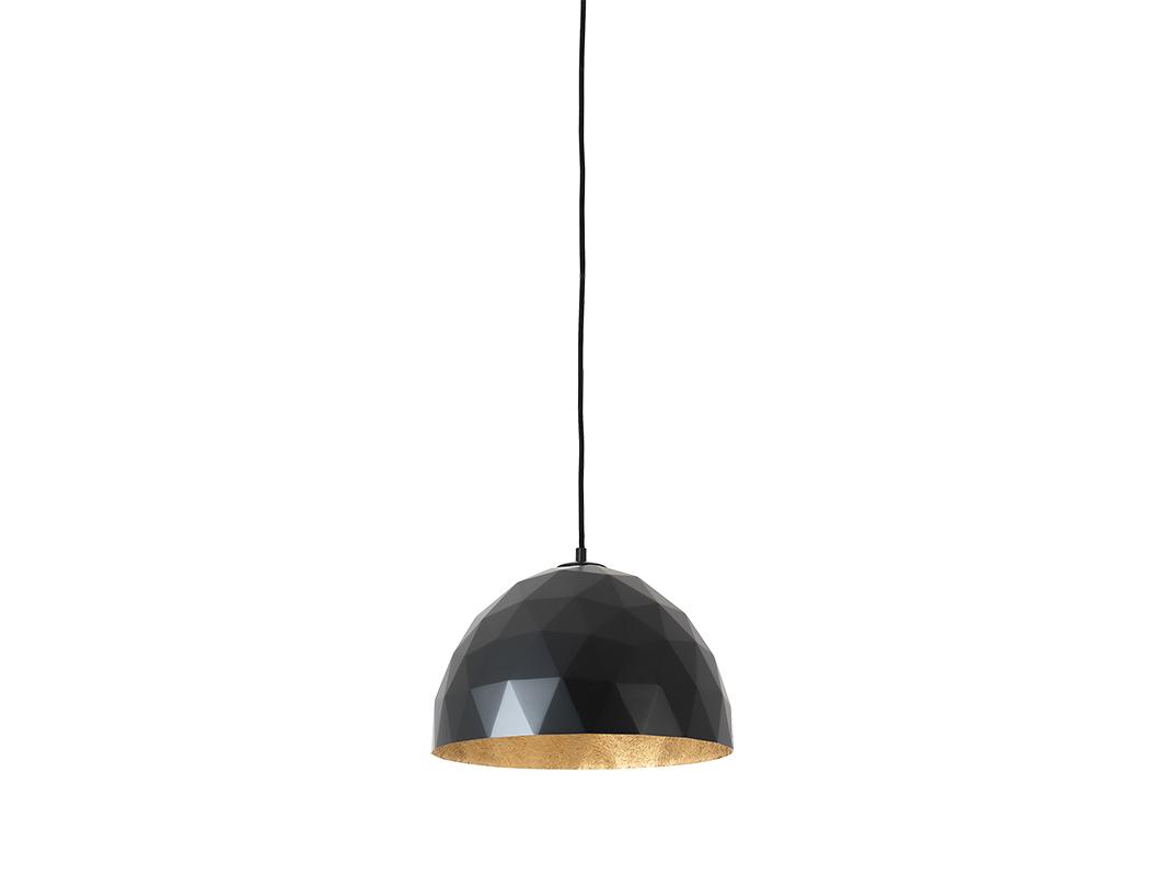 Závěsná lampa LEONARD M - zlato-černá