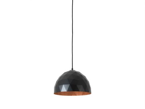 Závěsná lampa LEONARD M - měď-černá